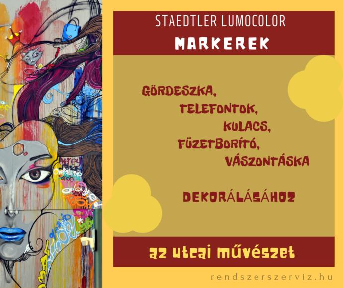 Staedtler Lumocolor markerek
