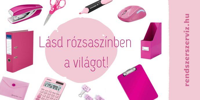 Rózsaszín irodaszerek